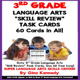 3rd Grade Language Arts Task Cards, Review All Standards! 60 Cards in All!
