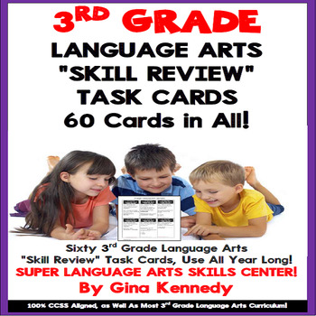 3rd Grade Language Arts Task Cards, Review All Standards!