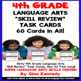 4th Grade Language Arts Task Cards, Review All Standards!