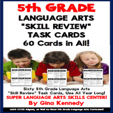 5th Grade Language Arts Task Cards, Review All Standards! 60 Cards in All!