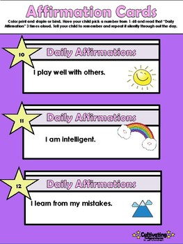 60 Affirmation Cards for Children