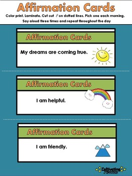 60 Affirmation Cut-out Cards for Children