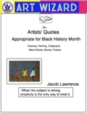 Lists of 60 Artists' Quotes, Black History Month, All Year, Art Resource