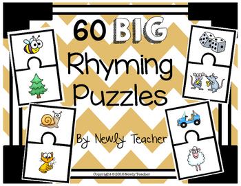 60 BIG Rhyming Puzzles