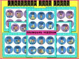 60 Bilingual Spanish - English Classroom Jobs cards / badges