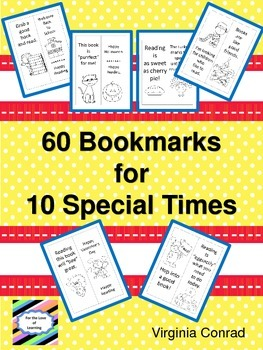 Bookmarks to Color for 10 Special Times