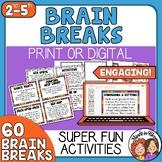 60 Brain Breaks Cards and Google Slides | Bonus Social Distance Version Included