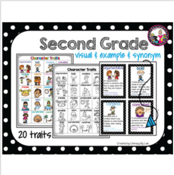 60 Character Traits for Vocabulary Building! k-2