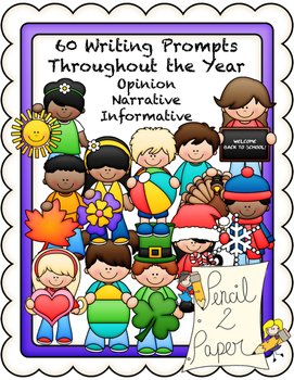 60 Common Core Writing Prompts BUNDLE- First Grade