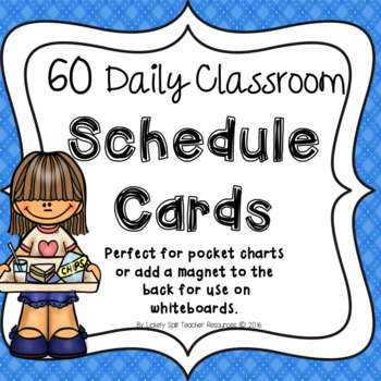 60 Daily Classroom Schedule Cards