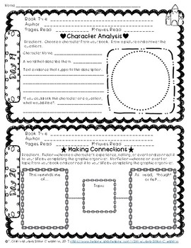 60-Day Summer Reading Log Response Packet, Fiction & Nonfiction Text Grades 3-6