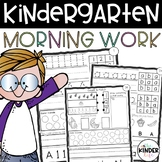 Kindergarten Morning Work 60 Days of Common Core Part A