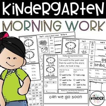 60 Days of Common Core Morning Work Part C: Kindergarten o