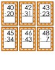 60 Double Digit Subtraction Flashcards Without Regrouping