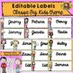 BACK TO SCHOOL - 60 EDITABLE LABELS {CLASSIC BIG KIDS THEME}