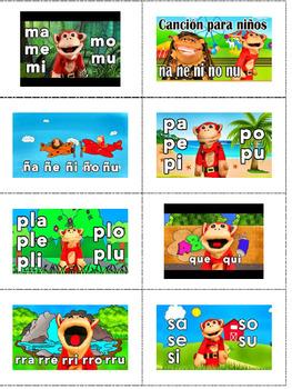 60 EL MONO SĺLABO Videos - QR Code Listening Stations – Español, Dual, Bilingual