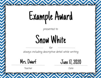 60 Editable Class Superlatives - End of Year Awards