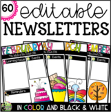 60 Editable Weekly Newsletter Templates (Color AND Blackline)