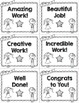 60 Encouraging WOW! Cards for Elementary Students