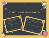 60 End of the Year Classroom Awards {Fillable}