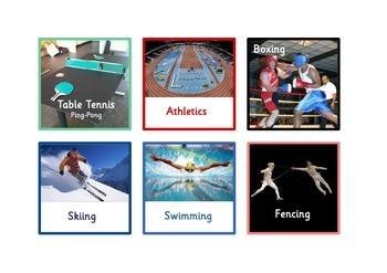 60 English Sports Flashcards  for EFL,ESOL,etc