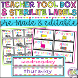 EDITABLE Teacher Toolbox Labels and Sterilite Drawer Labels