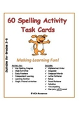 60 FUNTastic Unique Spelling Activity Task Cards for ANY l