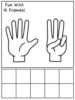 60 Fun With 10 Frames Printable Worksheets. Preschool-KDG Math Worksheets.
