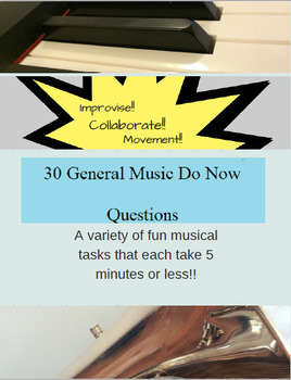 30 General Music Do Now Questions (Set 1)