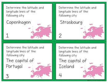 60 Geography Task Cards: Europe