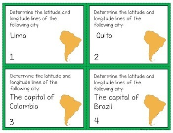 60 Geography Task Cards: South America