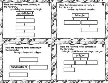 60 Geometry 2D Figures & Coordinate Planes Task Cards 5th Grade INK SAVER FSA