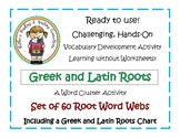 60 Greek and Latin Roots Organizer Webs