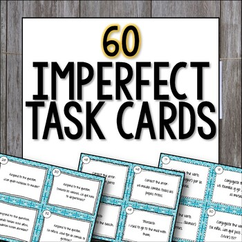 Imperfect Task Cards - Spanish El imperfecto