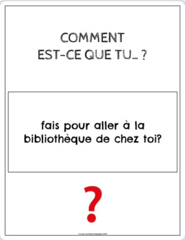 60 Intermediate French Speaking question cards - How do you..?