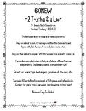 """60 NEW """"2 Truths & a Lie"""" 5th  Grade Math Standards Critical Thinking ~ D.O.K. 3"""