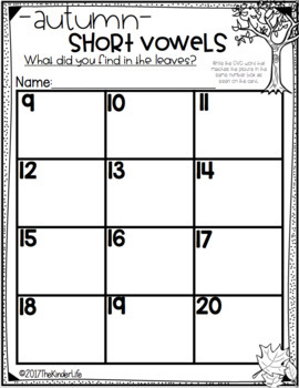 Short Vowels Task Card Game
