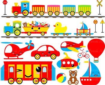 60 PNG Files- Baby Toys & Vehicles ClipArt- Digital Clip Art - 300 dpi 118