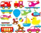 60 PNG Files- Baby Toys & Vehicles ClipArt- Digital Clip A