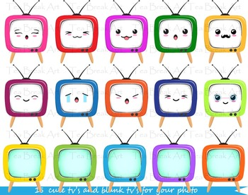 60 PNG Files- Kawaii TV's Clip Art - 070