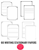 60 Pages of Writing Stationary With Black Border