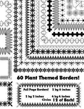 60 Plant Themed Borders