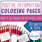 60 Positive Affirmations for Kids Coloring Pages