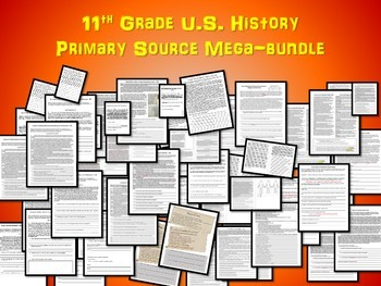60 Primary Source Texts & other resources for High School