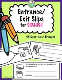 60 Printable Entrance / Exit Slips for Spanish Class