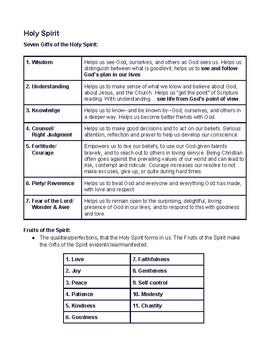 Religion Confirmation Preparation Packet Catholic Church