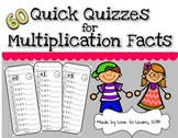 60 Quick Quizzes for Multiplication Facts
