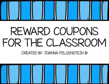 60 Reward Coupons for the Classroom