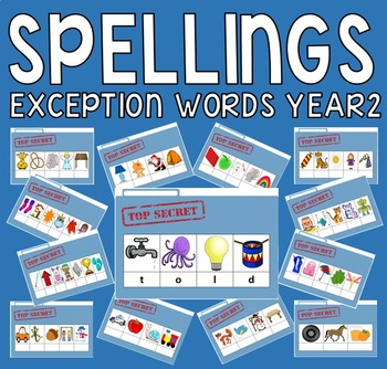60 SPELLINGS CARDS FOR YEAR2 EXCEPTION WORDS KS1 ENGLISH L