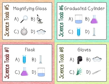 60 Science Tools Task Cards for Differentiated Learning Back to School